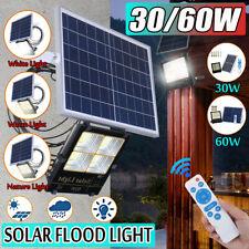 140 / 180 LED Solar Powered Light Outdoor Garden Backyard Security Flood