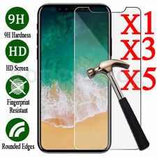 For iPhone 7 8 X Plus Tempered GLASS Screen Protector Bubble HD Protective Film