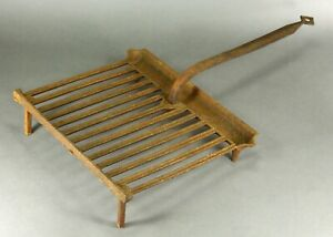 = Antique 1750 -1800 EARLY GRIDIRON Cast Iron Open Fire Roaster Grill Rack #3