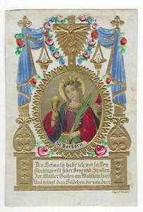 Heiligenbilder Andachtsbilder Hl Barbara alt