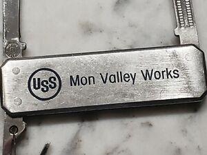 Vintage Barlow USS Steel Corp Mon Valley Works Employee Commemorative Knife