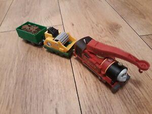 Thomas Trackmaster Harvey Train, battery operated. New style Thomas Revolution