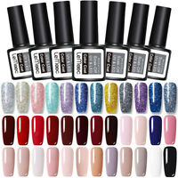 LEMOOC 8ml Esmalte de uñas UV Gel Empapa Nail UV Gel Polish  Top Coat Gel UV