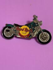 Hard Rock Cafe TIJUANA 1990s GREEN HARLEY MOTORCYCLE BIKE PIN  MINT!!