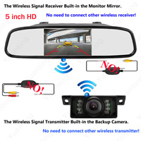 5 inch LCD Car Rear View Backup Mirror Monitor Built in Wireless Reverse Camera