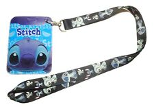 Lilo and Stitch -  Stitch Repeat Design LANYARD ID Holder Keychain