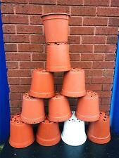 """20 X Plant Pots 20-21cm Strong Plastic Round Flower Pot 8"""" Quality 4Liter 4L"""
