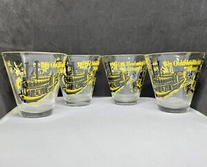 ANTIQUE EARLY 1900s LOWBALL GLASSES VINTAGE SONG NAMES  WITH GRAPHICS EXCELLENT!