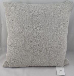 "Hotel Collection Interlattice Beaded 20"" Square TWO Decorative Pillows Silver"