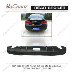 FRP Kit For 07-15 Infiniti V36 G25 G35 G37 Q40 Sedan Rear Diffuser (JDM ONLY)