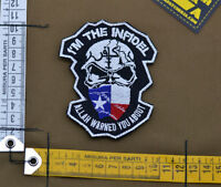 "Ricamata / Embroidered Patch ""I'am the Infidel"" with VELCRO® brand hook"