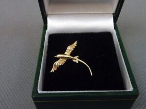 Vintage 14ct Gold Bird Pin Brooch.