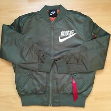AIR TOKYO FLIGHT BOMBER JACKET OLIVE GREEN SIZE LARGE URBAN ANARCHY JAPAN