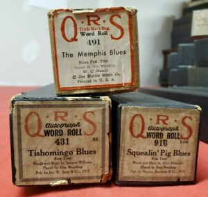 3 Pete Wendling Blues Player piano Rolls