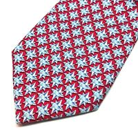Vineyard Vines Tie Silk Whale Logo Nautical Star with Compass Points Men Necktie