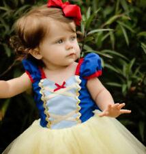 1st Birthday Snow White Theme Bodysuit & Tutu Outfit Blue Red Yellow NWT