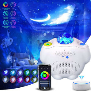 LED Galaxy Starry Night Light Projector Ocean Star Sky Speaker Party +Remote NEW