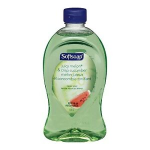 Lot of 4 Softsoap Juicy Melon Crisp Cucumber 28 oz Hand Soap wash Refill HTF