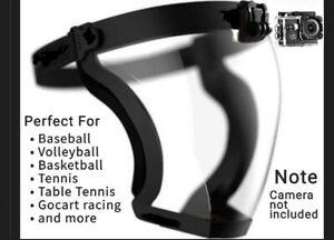 Full sports face guard squash mask respiratory shield POV Camara