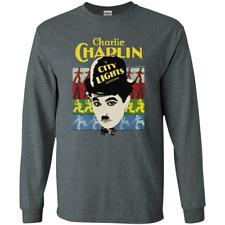 Charlie Chaplin, City Lights, Silent Film Window Card - Long Sleeve T-Shirt