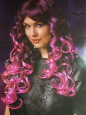 Long Curly Purple Wig