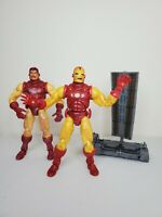 "Marvel Legends 6"" Iron Man Series 1 Tony Stark 2 Figure lot Toy Biz Avengers"