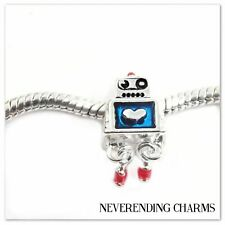 Cutest Little Robot Guy Dangle European Bead Charm
