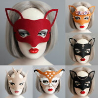 Women's Halloween Party Masquerade Mask Ball Prom Half Deer Carnival Masks Dress