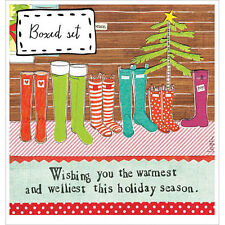 Curly Girl Designs Box of 8 Christmas Cards - WELLIEST WISHES - #CG-C-BX-HOL26
