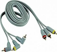 High Quality 15 ft Home & Car Audio/Video Gold Plated AV RCA Cable Tripple/3 RCA