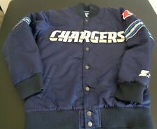 SAN DIEGO CHARGERS Football STARTER Snap Up VINTAGE Style Youth MEDIUM Jacket