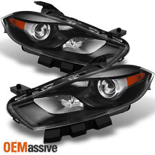 2013 2014 2015 Dodge Dart Halogen Type Black Projector Headlights Replacement
