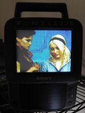 """Sony 5"""" Color Watchman FDT-5BX5 AM FM Tuner Vintage CRT TV Composite Video Input"""