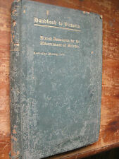 Antiquarian HANDBOOK TO VICTORIA.1914.Brit.Assoc.for Advancement of Science,378p