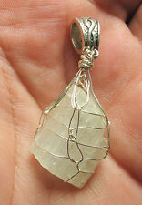 Cat's Eye Petalite Sterling Silver Hand Wrapped Crystal Angel Pendant #14