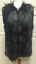 LANVIN for h&m luxueux gilet Fellweste Fake Fur EUR 42 size US 12 UK 16