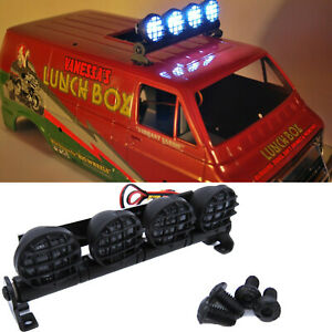 LED Roof Light Spotlights Bar Searchlight Accessories for TAMIYALunchbox RC Car