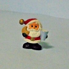 1990 Hallmark Christmas Merry Miniatures Santa With Milk & Cookie