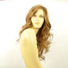 Perruque femme longue blond foncé méché blond clair JENNIFER F27613