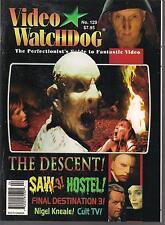 VIDEO WATCHDOG #129 SAW 3, HOSTEL, THE DESCENT, CULT TV