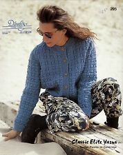 Classic Elite Yarns Knitting Patterns Set of 8 -  Fair Isle Pullover, Cardigans+