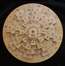 Safecracker 50 wood brain teaser puzzle - math - unique made USA -very difficult