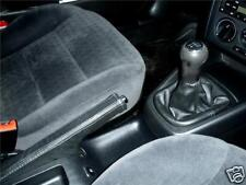 FITS VW GOLF MK4 GTI SDI TDI  98-2005 GEAR + HANDBRAKE GAITERS BLACK LEATHER