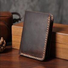 Men Wallet Handmade Vintage Genuine Leather Engrave Card Holder Male Purse 1pc