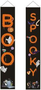 Halloween 2 Piece - Boo / Spooky Halloween Hanging Banners