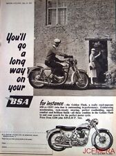 1957 Motor Cycle ADVERT - B.S.A. '650 OHV Twin Golden Flash' Print AD