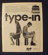 1967 SCM Corporation Smith Corona Type-In Portable Typewritter Memorabilia Ad