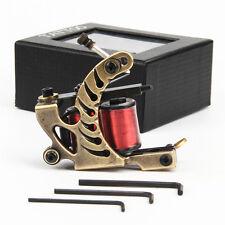 Iron Frame 10 Wraps 32mm Copper Wire Coils Tattoo Machine Gun Liner Golden