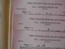 Noten Bach die Kunst der Fuge Edition Peters No 218c Trio Violine