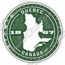 "Quebec Canada Country Map Grunge Stamp Car Bumper Vinyl Sticker Decal 4.6"""